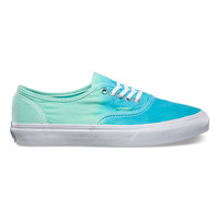 Vans Ombre Authentic Slim Womens Shoes Cloisonne/Icy Green  In Sizes