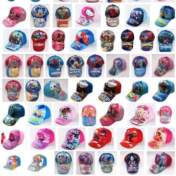 1pcs cartoon mickey minnie avengers mix boy girl lovely Fashion Sun Hat Mario Casual Cosplay Baseball Cap children party gifts