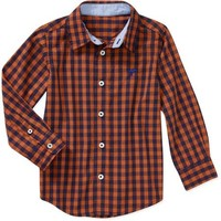 Wrangler Baby Toddler Boy Gingham Woven Shirt - Walmart.com