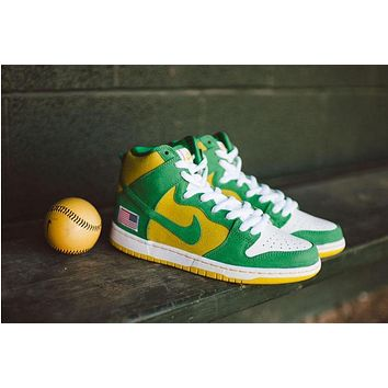 Nike Dunk High Pro Sb Oakland Athletic 305050-337 Size 36-45 - Beauty Ticks