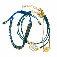 Friendship Bracelet Set - Teal