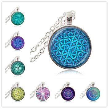 Flower of Life Pendant Mandala Sacred Geometry Necklace