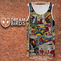 Marvel Comic Superheroes Fullprint Adult Tanktop. Men and Ladies Tanktop