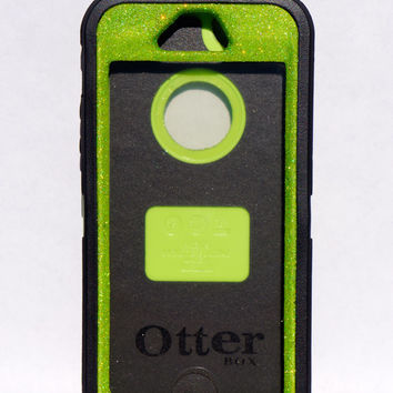 OtterBox Defender Series Case iPhone 5 Glitter Cute Sparkly Bling Defender Series Custom Case Black / Green