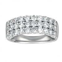 1 1/2ct tw Diamond Anniversary Ring in 14K White Gold - Diamond Rings - Jewelry & Gifts
