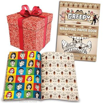 Creepy Gift Wrapping Paper Book