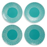 GIBSON 'Loxley' Dinner Plates - Blue/green (Set of 4)