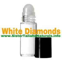 White Diamonds all natural fragrance perfume for women girls sensual scent free shipping non irritating