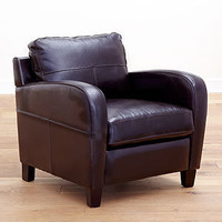 Espresso Mason Bi-Cast Leather Chair
