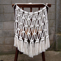 Boho wedding chair cover Bride and groom Macrame chair back Macrame wall hanging Boho wedding decoration Gypsy home decor Bridal decor