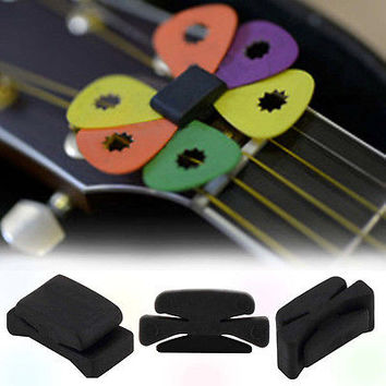 Wedgie Bass Guitar Headstock Pick Holder Rubber Pick Headstock Guitar Picks HU