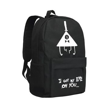 Girls bookbag Zshop Kids Backpack Girls Gravity Falls School Bag Children Bookbag Bill Cipher Schoolbag Teenagers AT_52_3