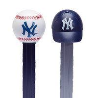 MLB Team Baseball PEZ Candy Packs - New York Yankees: 12-Piece Box