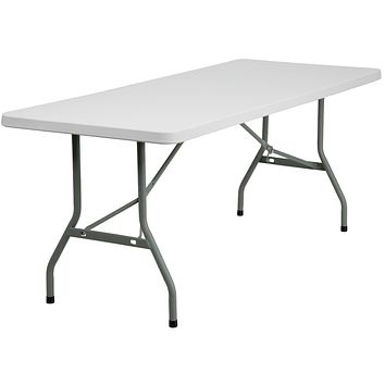 30''W x 72''L Granite Plastic Folding Table