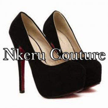 Party Women's Pumps With Suede and Round Toe Design #8998779