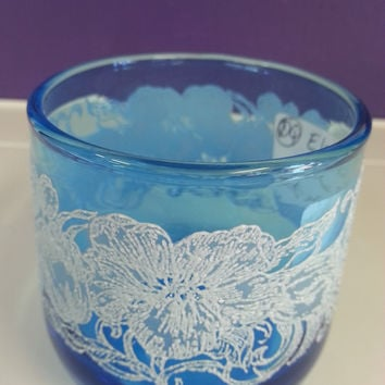 Turquoise Blue Juice Glass - SOLD!!!