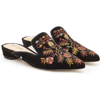 Embroidered Velvet Mules - Sam Edelman | WOMEN | US STYLEBOP.COM