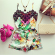 Spring Time Floral Lace Romper