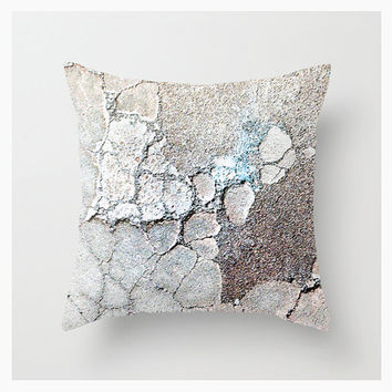 StoneVision Terracotta, Throw Pillow Cover, 16x16 18x18 20x20, Decorative, Home & Living Décor, Nature, Abstract, Pattern, Blue, Etsy ArtBJC