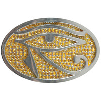 Adam Lambert Men's Eye Yellow Belt Buckle Silver