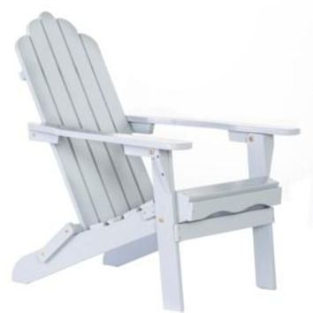 Folding Gray Wood color Adirondack Chair  Size 38H X 28 X 28