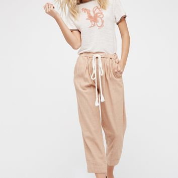 Free People Everyday Chambray Pull-On Pants