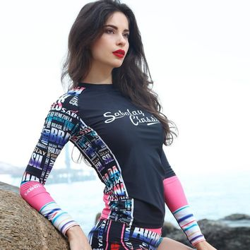 Summer Comfortable High Quality Sexy Korean Outdoors Long Sleeve Waterproof Swimwear [6581655815]