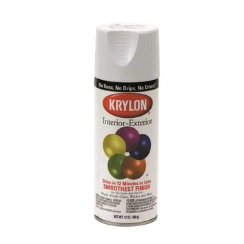Krylon Interior-exterior Enamel Spray Paint 12 Oz Flat Black