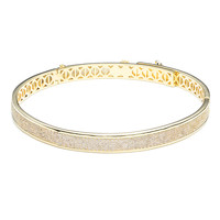 Eddie Borgo Gold Pave Extra Thin Safety Chain Bracelet - Gold Pave Extra Thin Safety Chain Bracelet