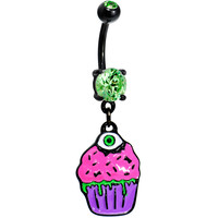Black Zombie Cupcake Belly Ring