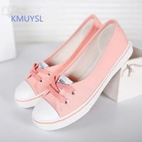 KMUYSL Women Shoes Ballet Flats Loafers Casual Breathable Women Flats Slip On Fashion 2016 Canvas Flats Shoes