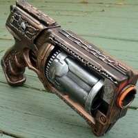 Steampunk gun Victorian Nerf N-Strike Maverick Zombie Fall Out Soft Dart toy