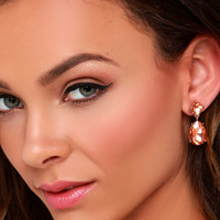 Lady Loverly Rose Gold Earrings