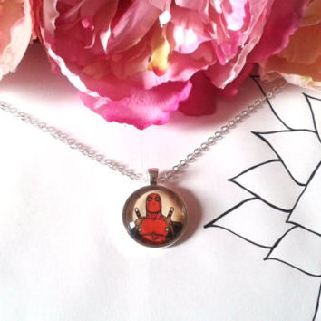 Merc With A Mouth Necklace - Comic Book Necklace - Comic Book Jewelry - Comic Book Earrings - Comic Necklace - Comic Earrings - Comics