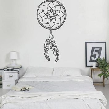 ik2429 Wall Decal Sticker Dreamcatcher Native American living room bedroom children's ward