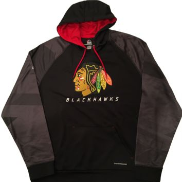 Men's Chicago Blackhawks Majestic Penalty Shot Tonal Therma Base Pullover Hoodie