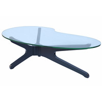 Sculpt Coffee Table, Black Glass