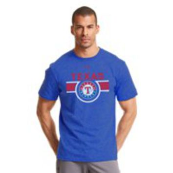 Under Armour Mens Texas Rangers Charged Cotton Tri-Blend T-Shirt