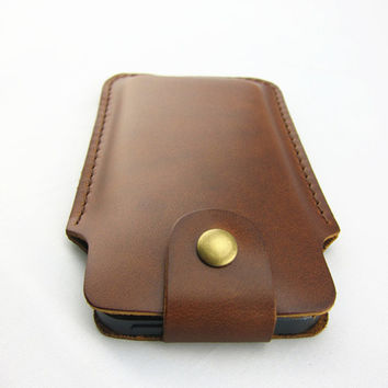 Handmade leather pouch cover for iPhone 5 sleeve ipod touch 5 sleeve ,iphone 5 sleeve leather iPhone 5 leather sleeve