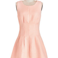 ModCloth Vintage Inspired Short Sleeveless Fit & Flare Convivial Brunch Dress
