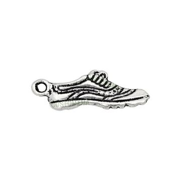 70pcs-Antique Silver Running Shoe Charms Pendant 24x9mm