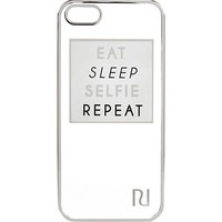 River Island Womens White slogan iPhone 5 phone case