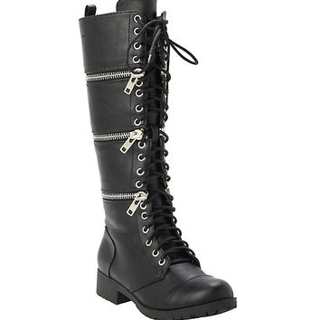 Black Zip-Off Boots