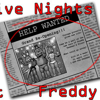 Brand New T-shirt Five Nights at Freddy's FNAF Newspaper Ad