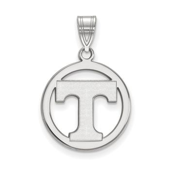 NCAA Sterling Silver U. of Tennessee Sm Circle Pendant Necklace