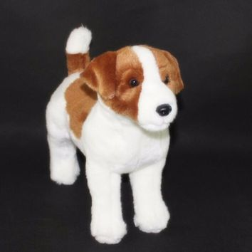 Brown/White Beagle Dog Stuffed Animal Plush Toy 12""