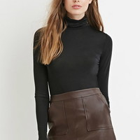 Contemporary Stretch Knit Turtleneck