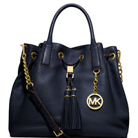 Camden Large Drawstring Satchel Bag, Navy - MICHAEL Michael Kors