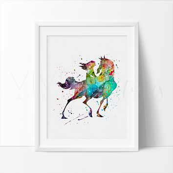 Mulan 2 Watercolor Art Print