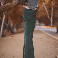 ROADIE CORDUROY BELLBOTTOM IN JADE